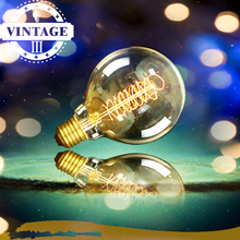 Lightinbox E27 G95 40W Filament Light Bulb Vintage Retro Antique Style Edison Lamp 110/220V 2pcs/lot(China)