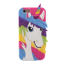 2017 Fashion cartooon fairy tale genius thinly color rainbow curls unicorn horse angle soft silicone cell phones case For Iphone(China)