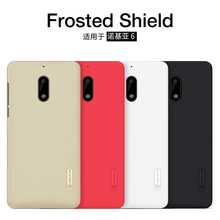 For NOKIA 6 cover NILLKIN Super Frosted Shield matte back cover screen protector For nokia 6 mobile capa nokia 6 android 2017(China)
