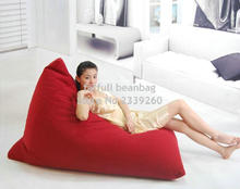 Cover only  No Filler - RED New arrival high back support waterproof outdoor beach bean bag