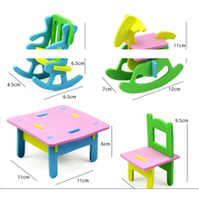 3D Furniture Model Children Jigsaw Puzzles DIY Handmade EVA Educational Toys for Children 3+ years