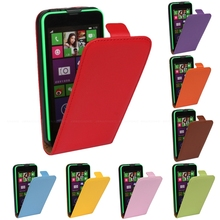 RSHOP Leather Magnetic Vertical Flip Case For Nokia Lumia 520 530 625 630 820 830 Up Pouch Cover Mobile Phone Bag(China)