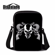 Dispalang fanshion retro women messenger bags skull head shoulder crossbody small personalized messenger bag casual sling bag
