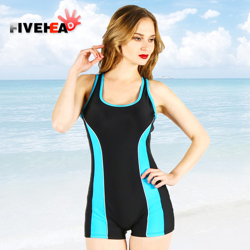 MAMAMIA women one piece swimsuit vintage solid sewing neat high quality jumpsuit blue dark slim competition race sport swimsuit<br>