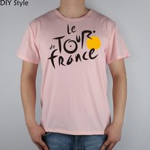 FRANCE LE TOUR DE T-shirt Top Lycra Cotton Men T shirt New Design High Quality Digital Inkjet Printing(China)