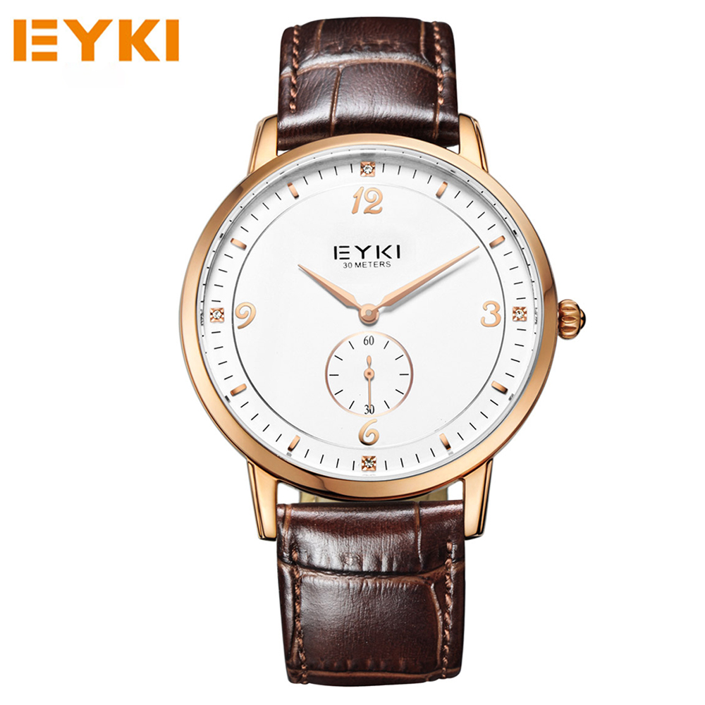 EYKI Lovers Watches Luxury Brand Quartz Wristwatches Leather Strap Waterproof Watches Casual Business Couples Clocks Reloj.<br><br>Aliexpress
