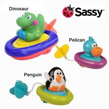 Free shipping-USA Sassy Pull & Go Boats bath toys in water P2