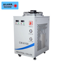 220V CW-6100AH CNC Spindle Water Chiller For Cooling Dual 200W or Single 400w CO2 Laser Tubes