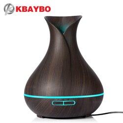 400 мл Аромат эфирного масла диффузор ультразвуковой увлажнитель воздуха с древесины 7 цветов Изменение светодиодные фонари Электрический А...