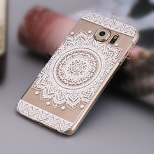 2017 Elegant Campanula Mandala Floral Dream Catcher Phone Cover Retro Vintage Case for Samsung Galaxy S6 Mobile Phone Bag Capa(China)