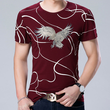 2017 NEW fashion casual short sleeve clothing social eagle fitness bodybuilding t shirts men t-shirt jersey tee shirt camisa 993