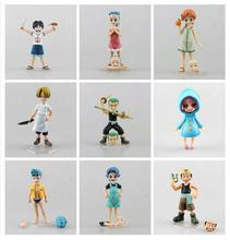 Anime One Piece POP Childhood ver. Zoro Sanji Luffy Nami Robin PVC Action Figures Collectible Model Toys 10 Types