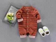 2017 Baby clothes newborn velvet jumpsuits baby clothing for men and women cotton climb children's romper