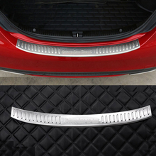 For Mercedes Benz C-Class W205 C200 C180 C260 C63 2015 2016 Stainless Rear Bumper Inner/outside Sill Plate Protector Cover Trim