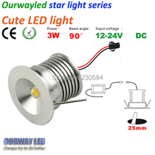 NEW 12V DC for any where installation Mini cute light very small led downlight 1w made by high precision lathe(China)