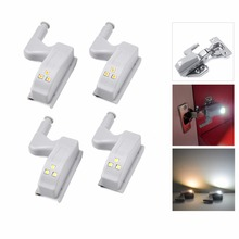 AIMENGTE Battery powered Universal Hinge Sensor Auto switch LED light home Cabinet Cupboard Wardrobe kitchen bedroom led lamp(China)