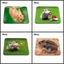 Mairuige Cute Hamster Tennis Luxury Printing Custom Skin Non Slip Durable Rubber Animal Mousepad for PC Optical Mouse(China)