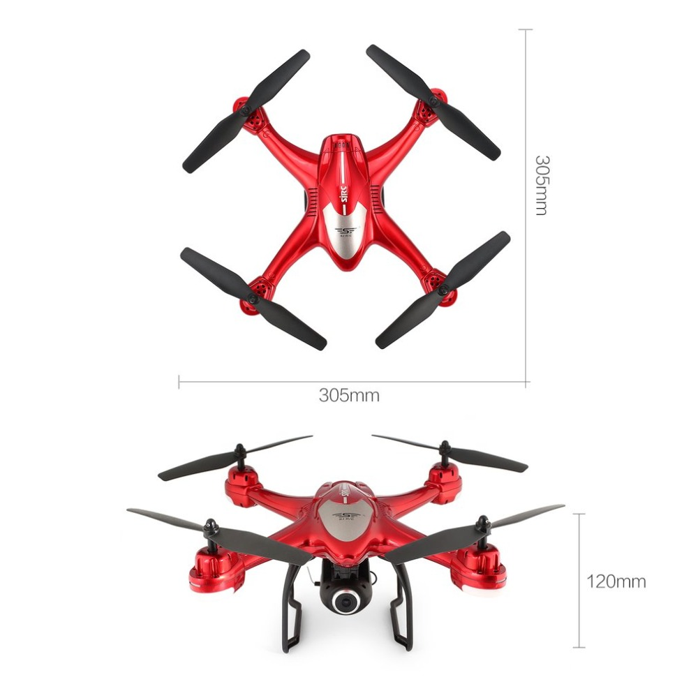 SJ R/C S30W 2.4G Dual GPS Positioning FPV RC Quadcopter Drone with 7P Adjustable Wide Angle Wifi Camera Follow Me Hovering 20