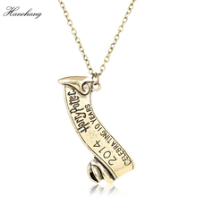 HANCHANG Classic Jewelry Harry Necklace For Women Men Harry P Children Accessories Celebrating 10 Years Badge Necklace Gift