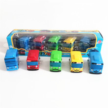 5pcs/set Korean Cartoon tayo the little bus wind up model car mini tayo plastic baby Squeaky oyuncak for kids Christmas gift(China)
