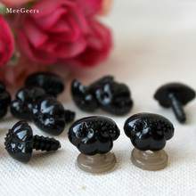 16x19mm Black Plastic Safety Noses(with washers)For Teddy Bear Doll Animal Puppet Crafts Children DIY Dolls toys Accessories DIY(China)