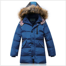2017 boy's kids clothes coat cold winter long down jacket coat to teenager boys children clothing brand design jackets outerwear
