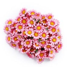 FBIL 100pcs Artificial Daisy Flowers Heads for Wedding Party (Light Pink)(China)