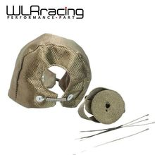 "WLRING STORE- Titanium T4 TURBO HEAT SHIELD BLANKET COVER + 10 METER 2"" MANIFOLD DOWNPIPE Titanium WRAP WITH 4PC TIPS(China)"