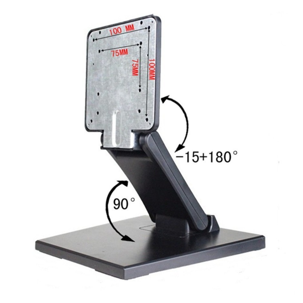 Adjustable LCD Monitor Stand Mount Folding VESA Monitor Desk Stand With VESA Hole 75x75mm 100x100mm (5)
