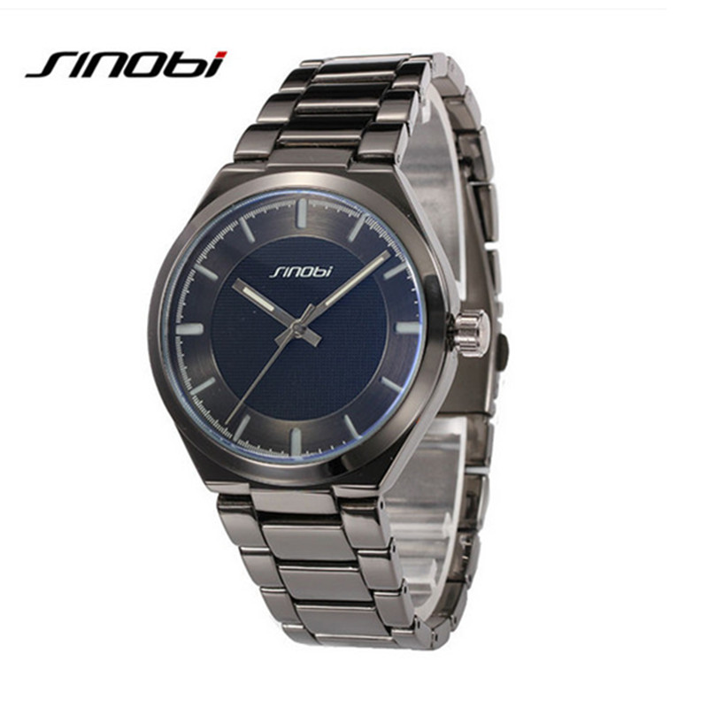 SINOBI Luxury Full Steel Watch Men Waterproof Sports Watches Male Clock Analog Quartz Watch Hour montre homme relogio masculino<br><br>Aliexpress