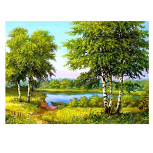 Round diamond embroidery landscape diy Diamond Painting forest tree Cross Stitch  Picture Of Diamond Mosaic plant kids gift