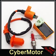 Racing Performance Ignition Coil 6 Pin AC CDI Box A7TC Spark Plug Fit Chinese Pit Dirt Bike ATV Quad Moped Scooter Motorcycle