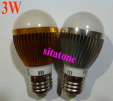 10pcs/lot China Post free shipping Dimmable 3W led bulb AC110V/220V E27 E14 B22 100-110lm/W led 2 year warranty(China)