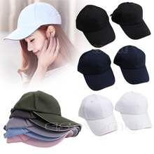 Men Women Baseball Cap Blank Plain Solid Sports Curved Visor Sun Golf Ball Hat(China)