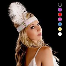 Party Supllies feather headdress feathers with sequins set auger color indian headband Gift 45
