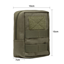 Outdoor  600D  Military Tactical Life Bag  Multifunctional Tool Pouch EDC Springs Hinge Hunting  Durable Belt Pouches Packs