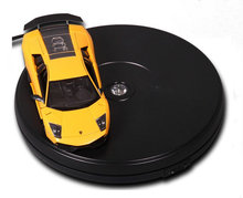 250X60MM Electric Turntable Display Stand With LED Light For Counter Showcase 45 Secs Per Circle Holding 15KGS
