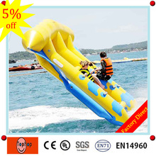 factory direct 0.9mm pvc tarpaulin good quality and cheap inflatable flying fish tube towable for 6 person on sale(China)