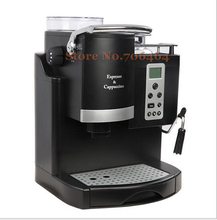 Commercial automatic LCD espresso coffee machine multi-language coffee grinding cd screen cappuccino maker 20 bar(China)