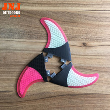 Factory price pink honeycomb surfboard FCS G5 fins with half carbon fins(China)