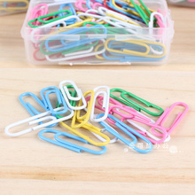 Paper clip color creative cute music files financial documents classified storage 100 / box(China)