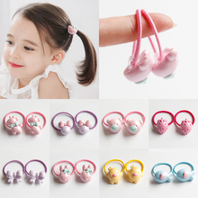 BB children small cute elastic hair bands for less hair girls kids hair accessories animal fruit candy color hair rope size 2cm