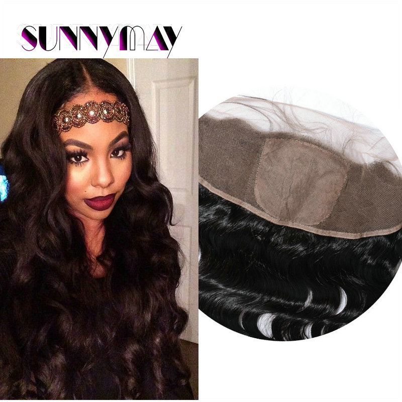 Sunnymay 7A Brazilian Virgin Human Hair 13x4 Body Wave Silk Base Lace Frontal Baby Hair Natural Color Free Style Lace Frontals<br><br>Aliexpress
