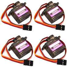 Wholesale 4pcs/Lot MG90S 9g Metal Gear Digital Micro Servos 9g for 450 RC helicopter Plane Boat Car(China)