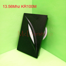 Wholesale 10 PCS ZK KR100M 13.56mhz Proximity Card Reader IC Slave Access Control Reader Wiegand 34 M1 Card Reader