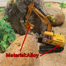 RC Truck Alloy 2.4G Crawler Excavator Remote Control Truck Clasps Car Engineer  Vehicles With Light Music Simulation Toy 6830L(China)