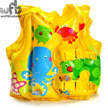 3-5Years Max Capability 23KG Catoon Marine Animals Swimwear Life Jacket Vest Inflatable Water Sport