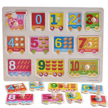 Kids alphabet digit Farm animal learning jigsaw Board Early educational toy baby hand grasp wooden puzzle toy for Children LF743