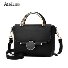ACELURE 2017 New High Quality Women Handbags Metal Short Handle Female Shoulder Bags Medium Women Messenger bags Tote Briefcase(China)