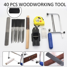 Buy 40Pcs Metal Needle Files +Curve Saws + Planer + Saw Bow Hand Tool Sets Home DIY Folder Hobby Wood Woodworking Bag for $27.88 in AliExpress store